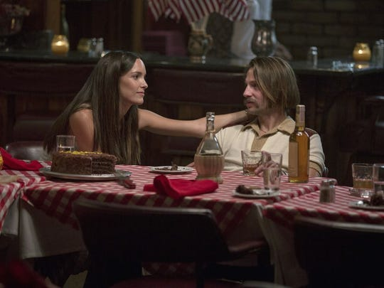 "Husband-and-wife reunite: Jodi Balfour and Logan Marshall-Green in ""Quarry."""