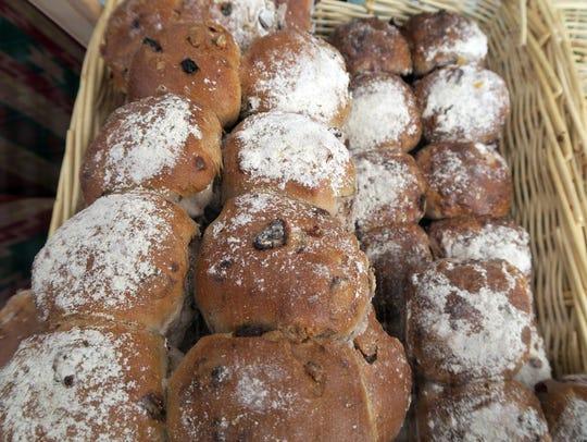 Breads from the Glen Rock Farmers Market.