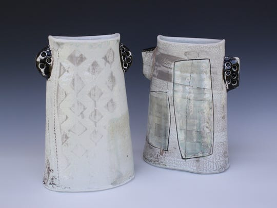 """Textures: Altered Vases"" by Erica Passage"