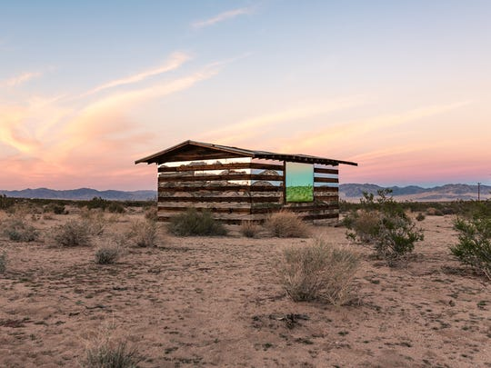 Smith's reimagining of a homestead cabin, Lucid Stead, in 2013 attracted plenty of attention for its use of highly reflective materials and LED lights on a wooden shack.