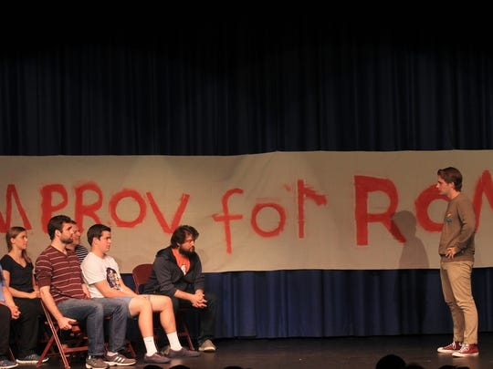 Students perform as a past Improv for Ron at Manasquan