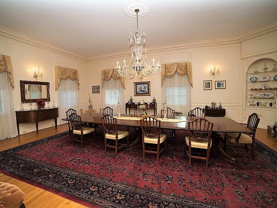The formal dining room can host any size dinner for