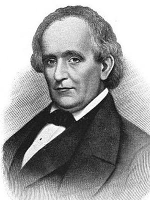 John Allen Collier, depicted around 1835, helped develop projects for the newly founded Binghamton.