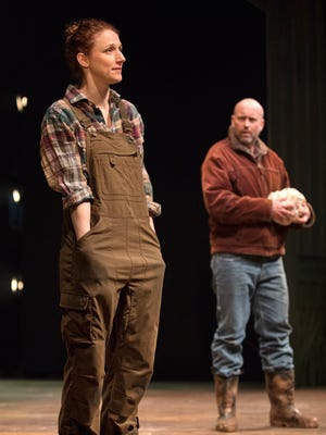 """Cassandra Bissell and Larry Bull in Arizona Theatre Company's """"Outside Mullingar."""""""