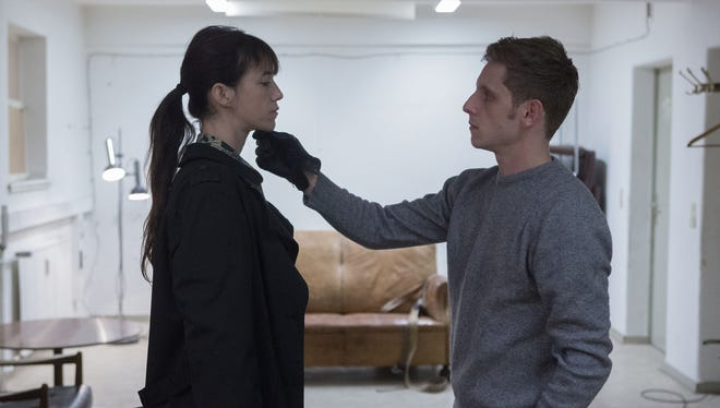 Charlotte Gainsbourg (left) and Jamie Bell in a scene from the Lars von Trier film 'Nymphomaniac: Volume II.'