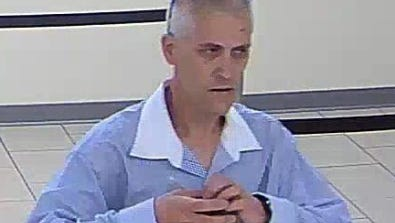 Police are seeking this man in connection with a bank robbery in Haddon Township Monday.