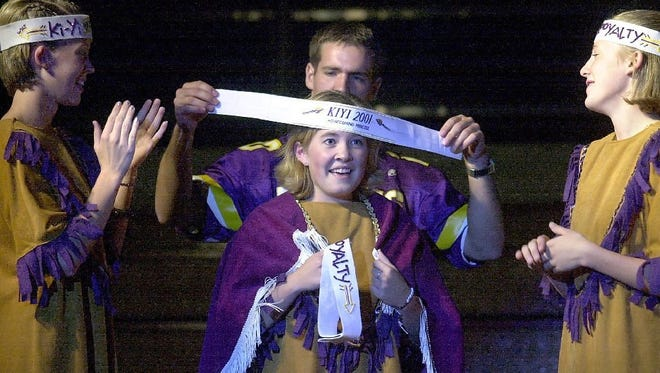 Watertown students participate in homecoming pageant at the 2001 Ki-Yi Days celebration. The ceremony has been revised after complaints.
