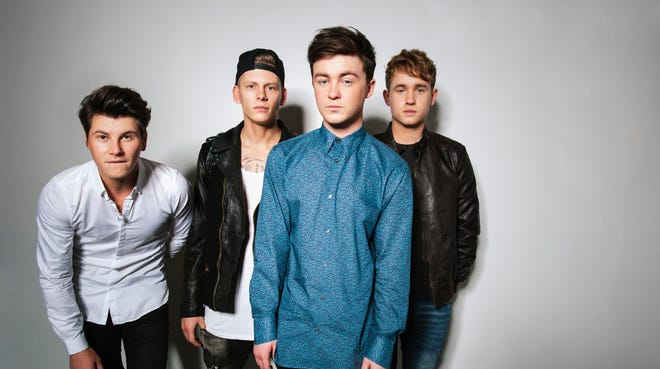 Charley Bagnall, left, Lewi Morgan, Jake Roche and Danny Wilkin of the band Rixton are from Manchester, England.