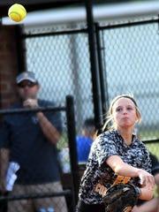 Hendersonville High junior third baseman M.J. Mattei throws to first base for a second-inning putout.