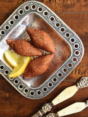 Potato kibbeh from the  cookbook, Soufra Recipes from