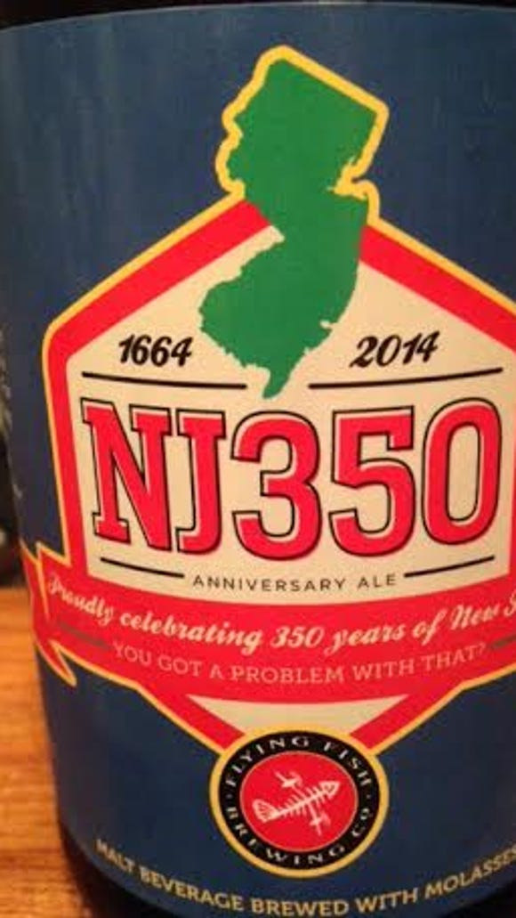The label for Flying Fish's NJ350