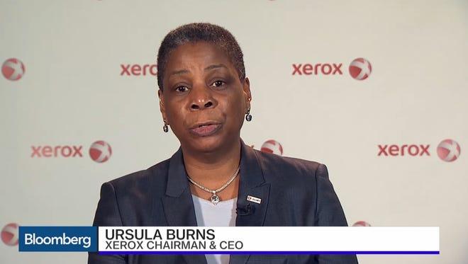 Xerox Chairwoman and CEO Ursula Burns said billionaire investor Carl Icahn didn't drive the company's decision to split.