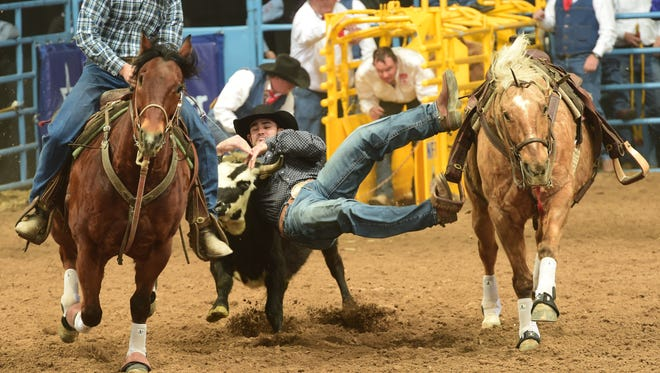 Tremonton cowboy Baylor Roche ranks No. 7 in the world steer wrestling standings this year with nearly $23,000 in winnings.