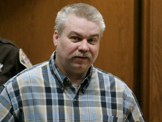 Steven Avery, right, is escorted March 16, 2007, into
