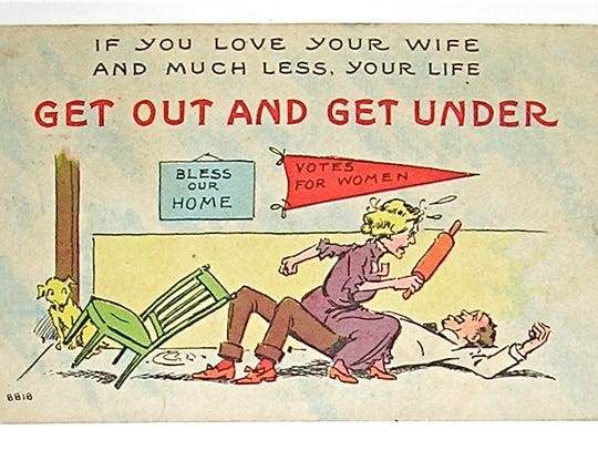 Anti-suffrage poster