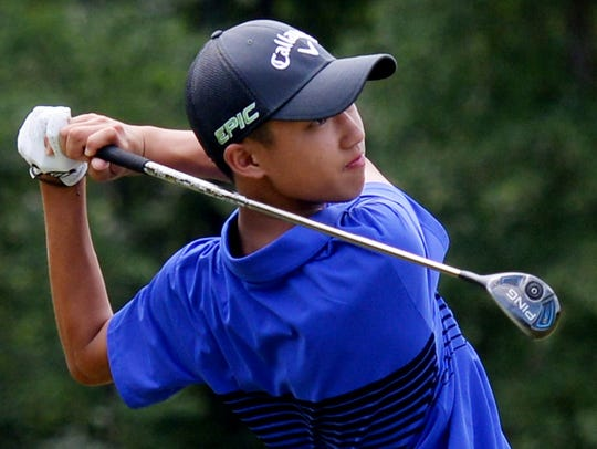 Evan Vo at the David Toms Foundation Junior All-star