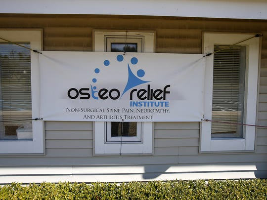 Exterior of the Osteo Relief Institute in at Route