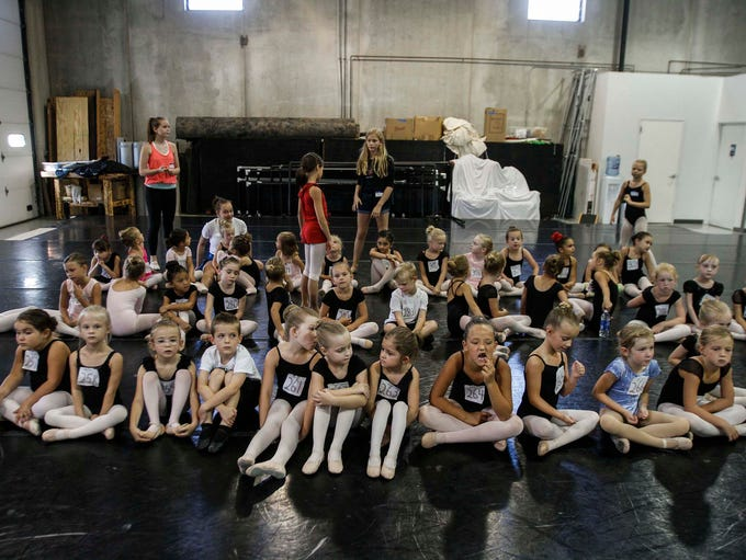 Dancers ages 5 and 6 audition for a role in Ballet