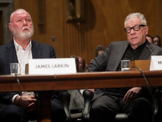 Former Backpage.com owners, James Larkin, (left), and