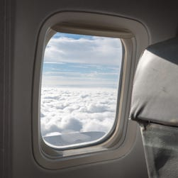 Airplane manufacturers place windows in locations where there is little stress. The shape ensures cracking does not occur due to pressurization cycles.