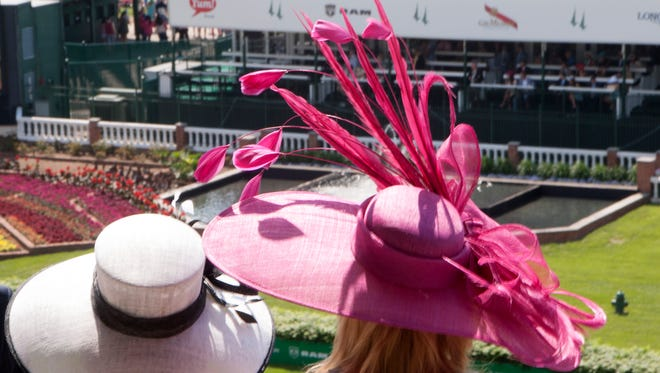 Hats were plentiful on Millionaires Row at Kentucky Derby 2016.
