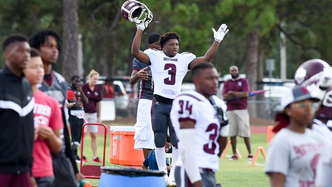 Fort Pierce Westwood faced Fort Pierce Central Saturday, Sept. 23, 2017, during their high school football game at Lawnwood Stadium in Fort Pierce.