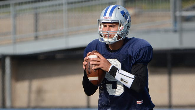 Whitefish Bay quarterback Cade Garcia led the Blue Dukes to a share of the North Shore Conference title this season.