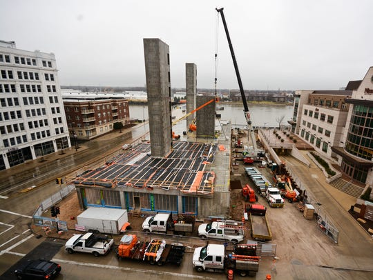 Construction is underway on the Metreau Apartments