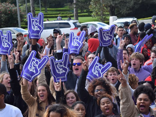 Students from Northwestern State University in Natchitoches