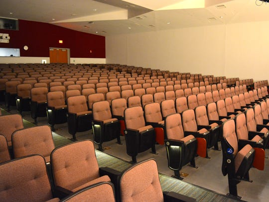 A look inside the new auditorium at Snow Hill High