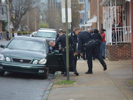 A shooting victim was found inside a car in the 700 block of N. Monroe St.