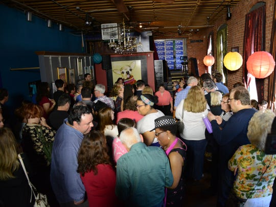 The Lost Dog Cafe in Binghamton was packed Sunday for Chelsea Clinton's speech in support of her mother's presidential campaign.