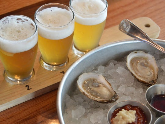 Beer and oysters are the perfect combination,  Andrew Harton, Big Oyster Brewery's head brewer, says.