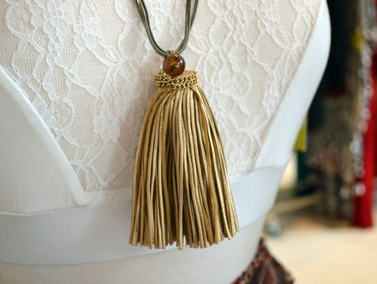 Tassels on necklaces, bracelets and earrings are popular