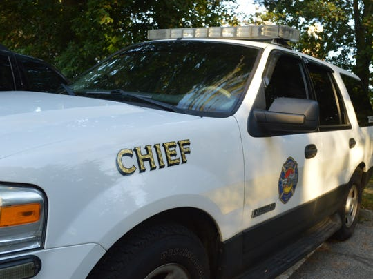 A chief's car was parked at the Briarcliff Manor Fire Department on Wednesday.