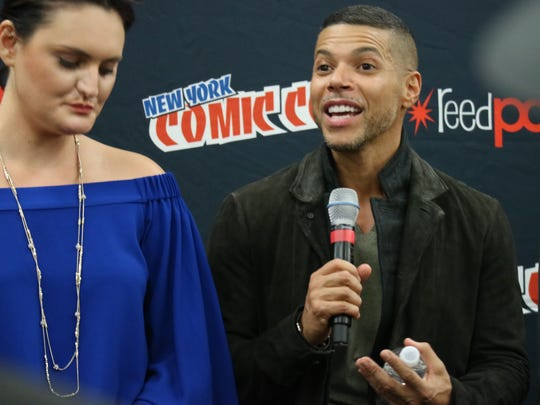 "Actor Wilson Cruz talks about his role on ""Star Trek: Discovery"" during the show's press conference at New York Comic Con 2017."