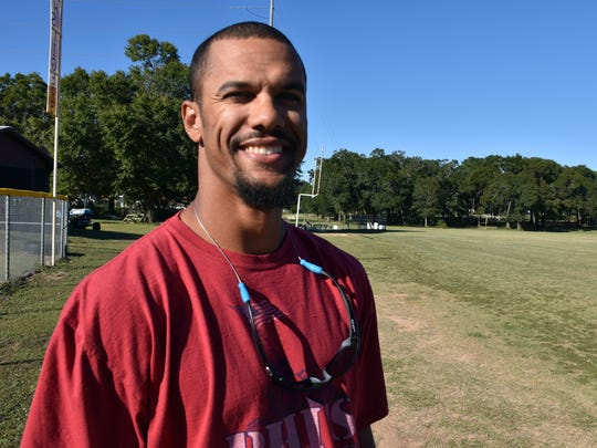 Former New York Giants wide receiver and current Pensacola High assistant Domenik Hixon