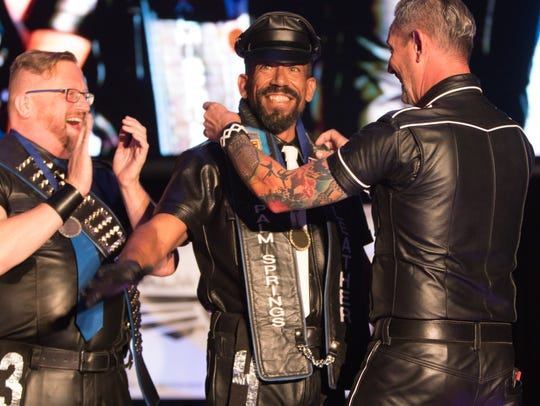 Jax Kelly is named Mr. Palm Springs Leather during