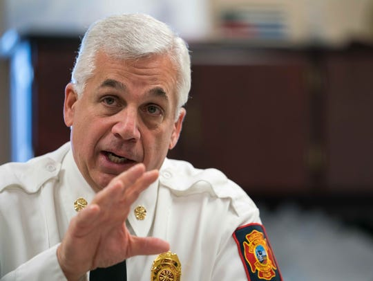 Fire Chief Mike Donohue says the process to change the rules for the Wilmington Fire Department started about eight months ago and that internal conversations on the issue started even earlier.