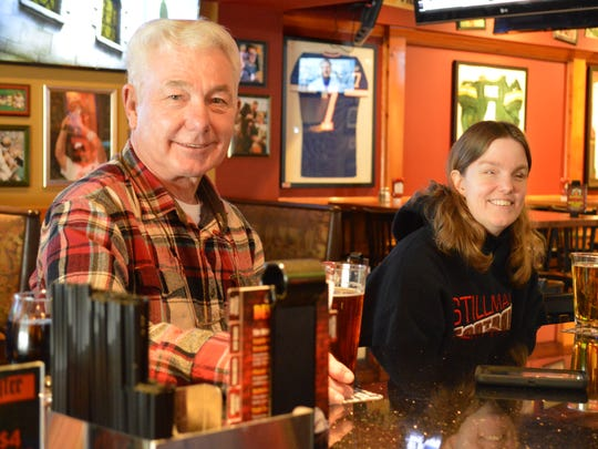 Dad and daughter duo Terry and Janelle Joiner of Pewaukee stop by Bullwinkle's three or four time a week.