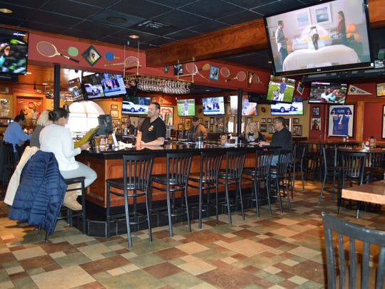 The bar has 35 beers on tap, specialty drinks, margaritas,