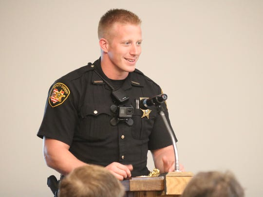 Deputy Matt Gandee, of the Ottawa County Sheriff's Office, was selected by his peers as the 2018 Deputy of the Year.