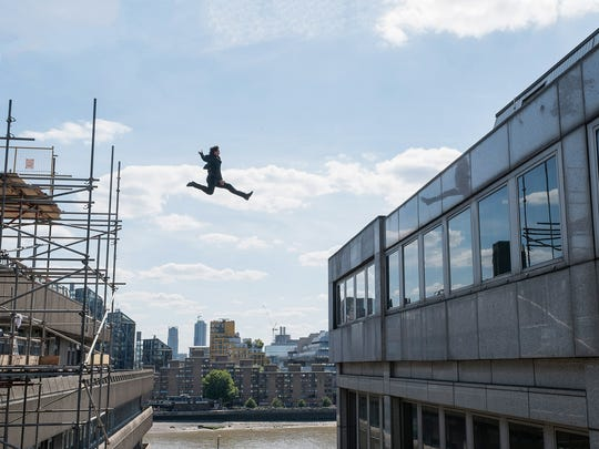 """There's a reason the franchise is called """"Mission: Impossible."""" Ethan (Tom Cruise) in action in """"Mission: Impossible - Fallout."""""""