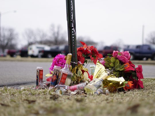 A memorial at the intersection of Ninth Avenue and