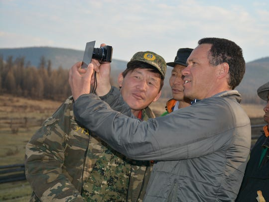 Mongolian park rangers are working with Americans as