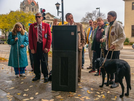 Green Bay Mayor Jim Schmitt proclaims Oct. 15 White Cane Safety Day in the city.