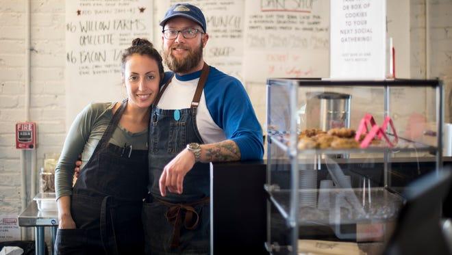 Lauren Moskovitz and Alex Grainger at Little Mosko's Muncheonette and Bake Shop, Tuesday, May 17, 2016, in Nashville, Tenn.