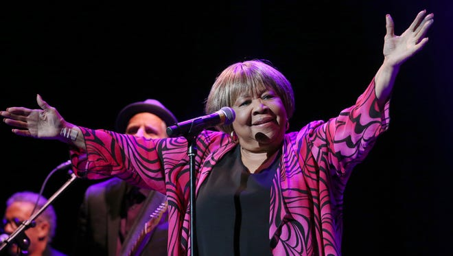 Mavis Staples performs her headlining show at Kodak Hall at Eastman Theatre at the 16th edition of the Xerox Rochester International Jazz Festival in downtown Rochester Wednesday, June 28, 2017.