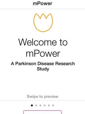 Screen grab of mPower app.