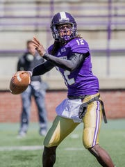 Western Carolina quarterback Tyrie Adams won the Southern Conference indoor and outdoor high jump titles as a freshman.